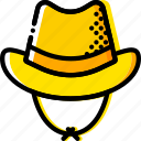 cowboy, hat, retro, west, wild, yellow icon