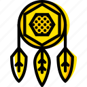 catcher, dream, retro, west, wild, yellow icon