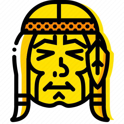 american, native, retro, west, wild, yellow icon