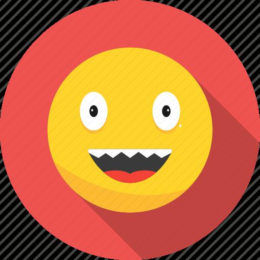 emoji, emoticon, laughing icon