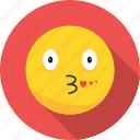 emoji, emoticon, kiss icon