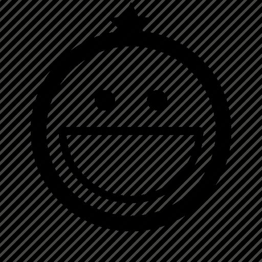emoticon, glad, grin, happy, smile, smiles, smiling face icon