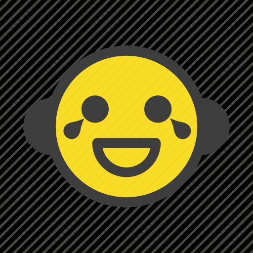 emoji, emoticon, happy, laughing, lol, nervous, smile icon