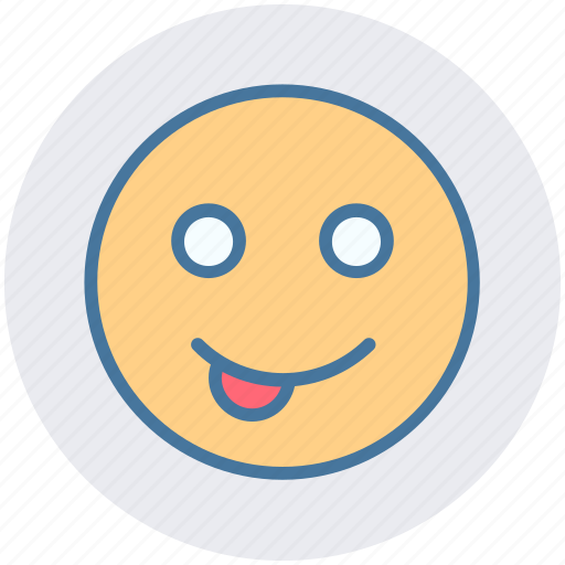 cheeky, emoticons, expression, face smiley, happy, loved one, smiley icon