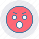 angry, angry face, emotion, expression, eyebrow smiley, smiley, stare emoticon