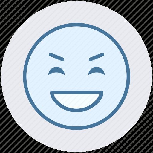 Big grin, emoji, emoticons, expression, face smiley, laugh, smiley icon - Download on Iconfinder