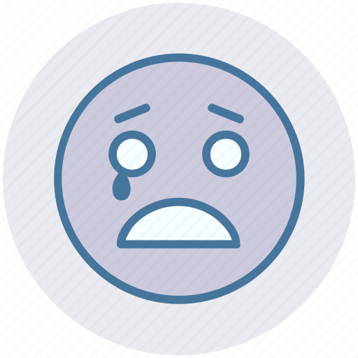 Crying, emoticons, emotion, expression, face, smiley, weeping icon - Download on Iconfinder