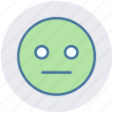 boring, dull, emoticons, expression, face smiley, smiley, stare emoticon icon