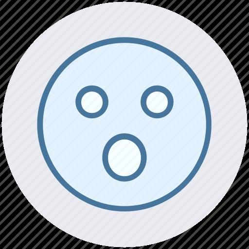Amazed face, emoticons, expression, face smiley, gaze emoticon, smiley, surprised icon - Download on Iconfinder