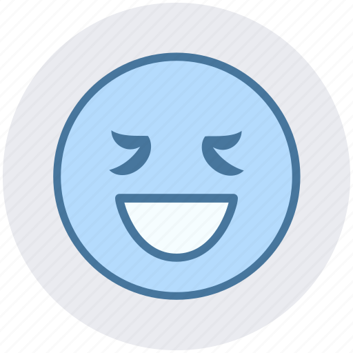 Emoticon, expression, face, happy, lucky, non-serious person, smiley icon - Download on Iconfinder
