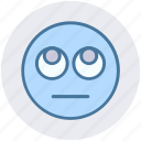 bored, emoji, expression, eyes, face, smiley, up eyes
