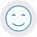 emoticon, face, happy, happy smile, smile, smiley, smiley face icon