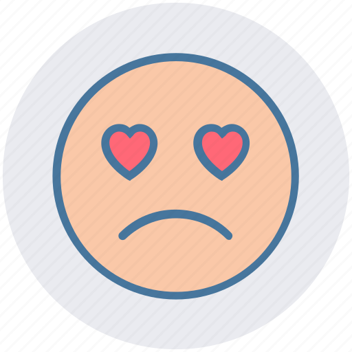 Adoring, baffled emoticon, crying, face expression, love beat, sad, weeping icon - Download on Iconfinder