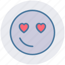 heart, emoticons, in love, smiley, love, expression, emoji
