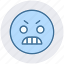 angry, angry face, emoji, emoticons, expression, face, smiley