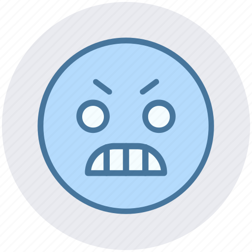 Angry, angry face, emoji, emoticons, expression, face, smiley icon - Download on Iconfinder