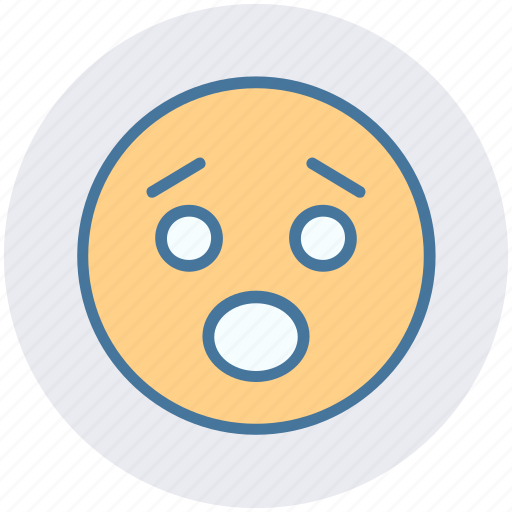 Amazed face, emoticons, expression, face smiley, sad, worried, yawn icon - Download on Iconfinder