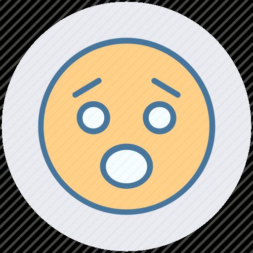 amazed face, emoticons, expression, face smiley, sad, worried, yawn icon