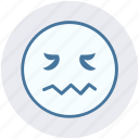 emoticons, expression, face smiley, lip seal, lour, rage, sad