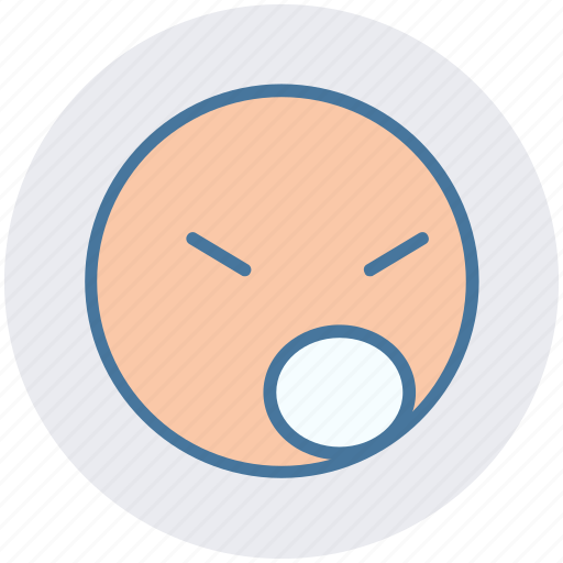 angry, emoji, emotion, emotions, face, sad, unhappy icon