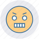 angry, expression, gaze emoticon, loudly, sad, serious icon