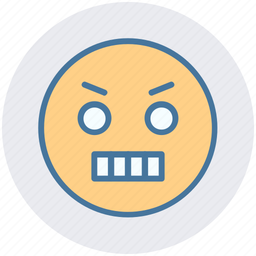Angry, expression, gaze emoticon, loudly, sad, serious icon - Download on Iconfinder