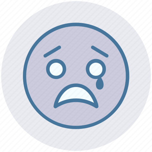 Crying, emoticons, expression, face smiley, sad, smiley, weeping icon - Download on Iconfinder