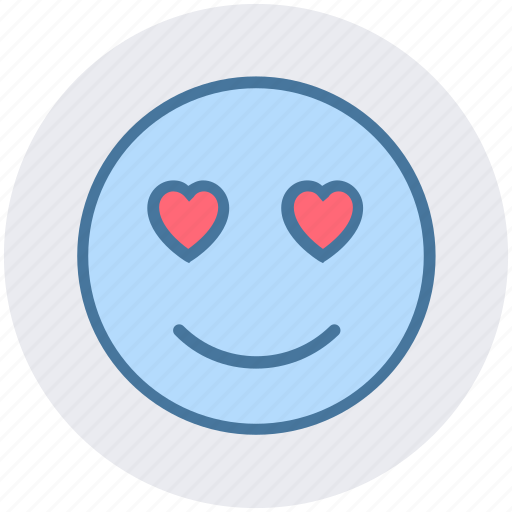Adoring, emoticons, heart eye, in love, love, loving, smiley icon - Download on Iconfinder