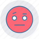 angry, emoticons, emotion, expression, sad, smiley, speechless icon