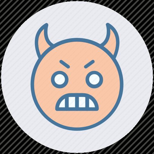 emoticons, expression, face smiley, gaze emoticon, rage, smiley, stare emoticon icon
