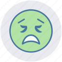 emotion, expression, face smiley, lour, sad, smiley, worried icon