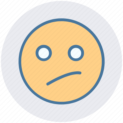 Bemused face, emoticons, emotion, expression, face smiley, smiley icon - Download on Iconfinder