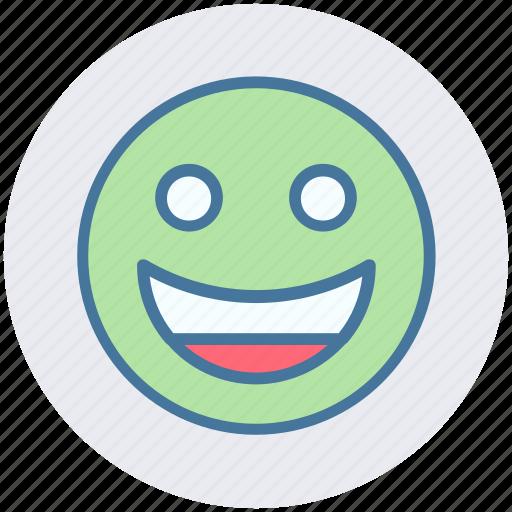 Emoticon, emotion, expression, face, happy, laugh, smile icon - Download on Iconfinder