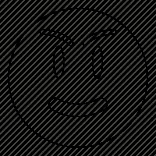 angry, emoji, emoticon, face, happy, smiley icon