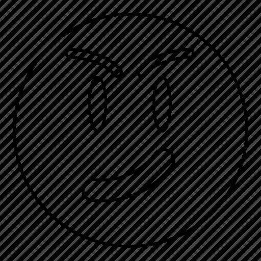 emoji, emoticon, face, happy, smile, smiley, smirk icon