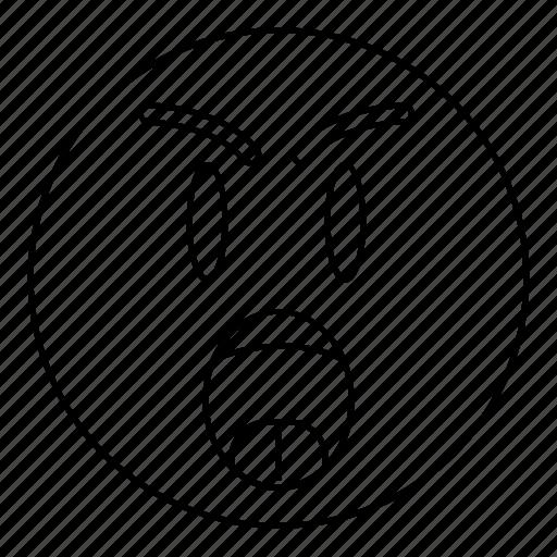 angry, emoji, emoticon, face, scream, yell icon