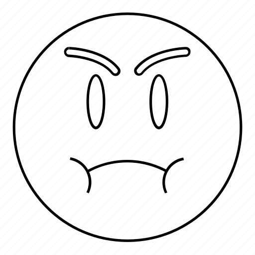 Angry, emoji, emoticon, face, fat, sad icon - Download on Iconfinder