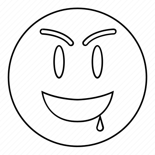 drool, emoji, emoticon, face, happy, smiley icon