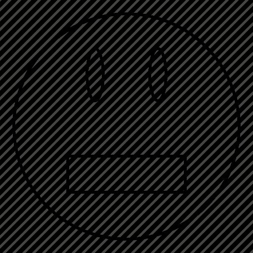 emoji, emoticon, face, smile, surprised icon