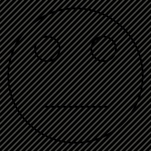 emoji, emoticon, face, neutral, smiley icon