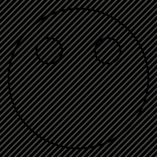 Emoticon, emoji, blank, smiley, face icon
