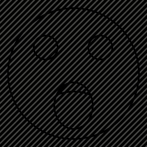 emoji, emoticon, face, scream, smiley, yell icon