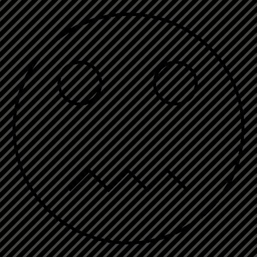 Emoticon, nervous, smiley, emoji, face icon