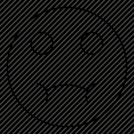 emoji, emoticon, face, sad, smiley icon