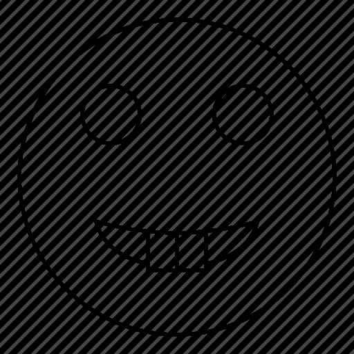 emoji, emoticon, face, happy, smile, smiley, tooth icon