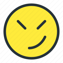 angry, emoji, emoticons, face, meh, smiley, unhappy icon