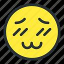 blushing, emoji, emoticons, face, smiley