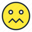 confuse, emoji, emoticons, smiley, tired, unhappy icon