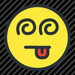 confuse, emoji, emoticons, face, smiley, toungue icon