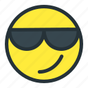 cool, emoji, emoticons, face, smiley, sunglasses icon